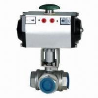 Quality Screwed Pneumatic Three-way Ball Valve with 1.6mPa Nominal Pressure wholesale