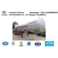 CLW brand double BPW axles 40.5cubic road transported lpg gas tank for sale, 17tons lpg gas tank trailer for sale