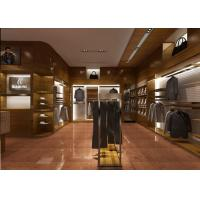 Cheap Retail Shop Fixtures / Clothing Display Case Top Grade Grained Veneer Wooden Material for sale
