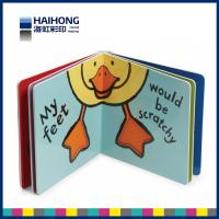 China Custom board book printing on demand for children , 300 gsm one side coated art paper on sale