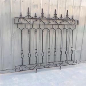 Quality Decorative Wrought Iron Fence Erosion Resistance Ornamental Fence Panels wholesale