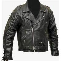 Quality Fashion style S M L XL  black soft thin leather 100% polyester jacket for men wholesale