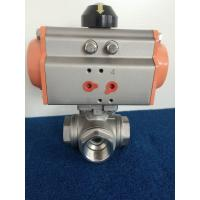 Quality CF8M / CF8 T / L Type 3 Way Ball Valves With Pneumatic Actuator AT Type wholesale