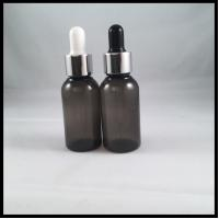 China Black Empty PET E Liquid Bottles , Durable Eye Dropper Bottles With Pipette on sale