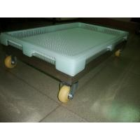 China Large 762 x 495 x 55cm  Plastic Drying Trays with holes and stackable mate with trolley on sale