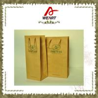 Quality Promotional Kraft Paper Carrier Shopping Bags With Twisted Paper Handle wholesale