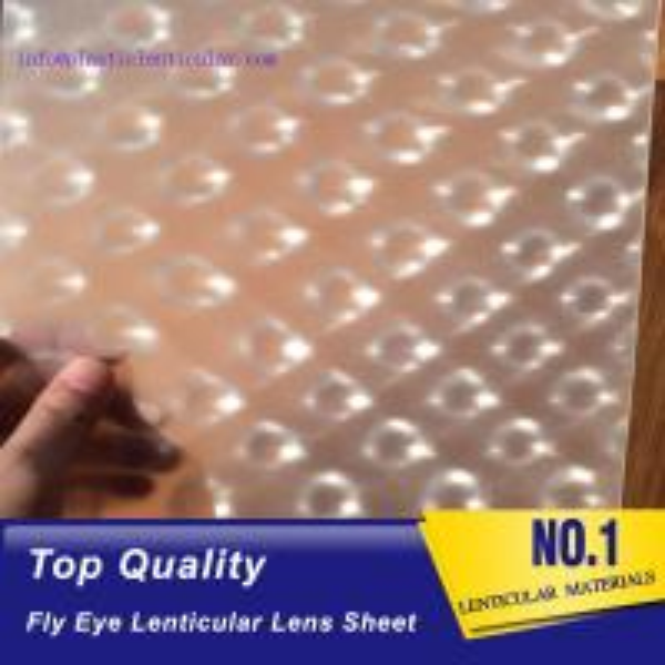 Cheap PLASTIC LENTICULAR flyeye lenticular sheet fly eye 3d pp lens array for packaging box decoration for sale