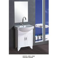 Cheap 60 X48X85/cm PVC stand bathroom cabinet / bathroom vanity / with mirror for for sale