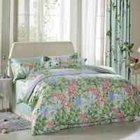 Quality Luxury Beautiful Home Bedding Sets Twin Size / Queen Size Silk Material wholesale
