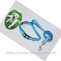 Quality Reflective polyester lanyard dog leash for pet products, polyester pet leash lanyards, wholesale