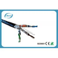 Quality Waterproof Shielded Cat6a Lan Cable For Outdoor Ethernet 4 Pairs OFC 24 AWG wholesale