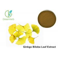 China Low Density Ginkgo Biloba Blood Circulation 24% Flavone Glycosides Brown Powder on sale