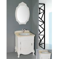 Quality 16mm oak material antique white bathroom vanity ,  freestanding  bathroom cabinet with customized mirror wholesale