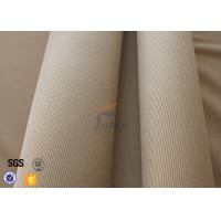 Quality 800℃ Fiberglass Fire Blanket 1.2mm 1150g , Satin Weave Brown Silica Fabric wholesale