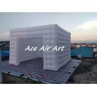 Quality custom giant wedding party event decoration led inflatable photo booth hire with air blower for sale wholesale