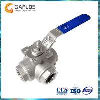 Quality 3-way female thread stainless steel ball valve wholesale