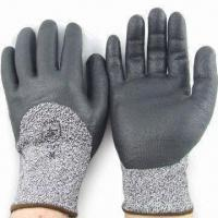Quality Cut-resistant Gloves with Nitrile Coating and HPPE Lining wholesale