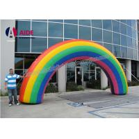 Quality Commercial Inflatable Entrance Arch Colorful Rainbow Party Decorations wholesale