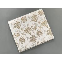 Quality 10 Inch Gold Leaf Ceiling PVC Panels Easy to Connect For Wall and Ceiling wholesale