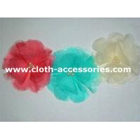 Artificial  Rose Fabric Flower Corsage Shell Lace With Stitched Pearl