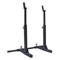 Quality Weightlifting Fitness Full Gym Equipment Power Half Adjustable Squat Rack wholesale