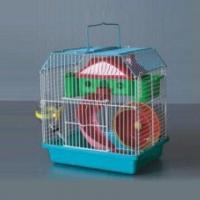 China Hamster/Rodent Cage, Made of Wire Mesh and Plastic, Measures 23 x 17 x 25cm on sale
