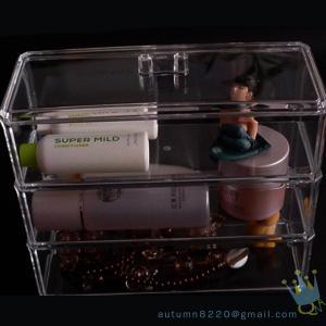 Quality 5 drawer acrylic makeup organizer wholesale