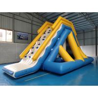 0.9mm PVC Tarpaulin Giant Inflatable Floating Water Slide With TUV Certificate