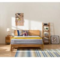 China European Nordic Bedroom Furniture Oak Solid Wood Queen King Size Bed on sale