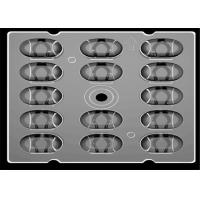 China CREE XPG Square LED Lens 14 In 1 , Eyes Protecting SMD LED Lens For LED Street Lighting on sale