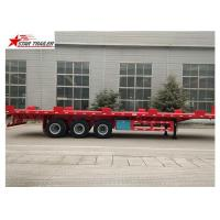 Quality 24/32/48/53/50 Foot Semi Truck Flatbed Trailer With Leaf Spring Suspension wholesale