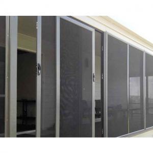 China Free Pleated Mesh 12mm Aluminium Fly Screen Sliding Door on sale