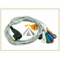 Buy cheap DMS 300 3A 5 / 7 Leads Holter Ecg Lead Wires Snap AHA IEC TPU Material 19 Pin from wholesalers