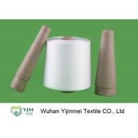 Quality 30/2 Raw White Virgin Ring Spun 100 Polyester Yarn Z Twist For Sewing wholesale
