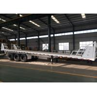 Quality Mn Steel 3 Axles Container Semi Truck Flatbed Trailer Carrying Heavy Goods wholesale