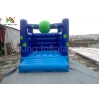 Buy cheap Home / Commercial Blue PVC Bouncy Castles Inflatable , Blow up Jumping Castles from wholesalers
