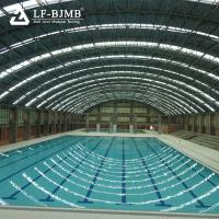 Quality Prefabricated Long Span Roofing Structures Swimming Pool Space Frame Roof Cover wholesale