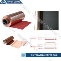 Quality TREATED RA COPPER FOIL/THICKNESS:12/18/25/35/50UM/COLOR:RED AND BLACK wholesale