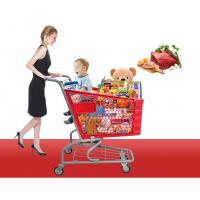 China 90L-3 supermarket shopping trolley , supermarket shopping cart with TPR wheels on sale
