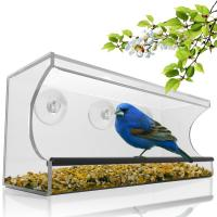 Quality Birdscapes window bird feeder House shaped clear acrylic bird feeder wholesale