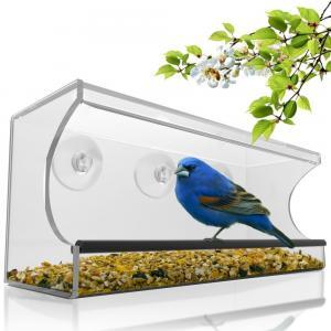 Cheap Birdscapes window bird feeder House shaped clear acrylic bird feeder for sale