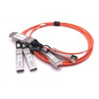 Quality Durable Cisco SFP Modules QSFP-4X10G-AOC1M QSFP To 4 SFP+ Active Optical Breakout Cable wholesale