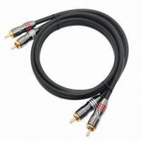 China RCA Male Cable, 3.5mm Stereo Male to 2RCA Male, Available in White on sale