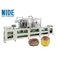 China Full automatic Induction Motor Stator Wire Lace Machine production assembly line / 4 stations Coil Lacer Machine on sale