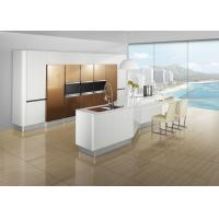 Free Standing Brown Painting Modern Kitchen Cabinets , Island Kitchen Cabinet