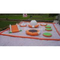 Quality 0.9mm PVC Tarpaulin Inflatable Water Park For Kids / Water Inflatable Park With Slide wholesale
