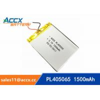 Quality pl405060 3.7V lithium polymer battery with 1500mAh rechargeable battery for GPS, beauty apparatus wholesale