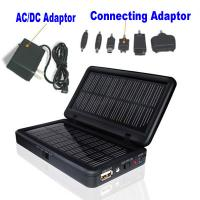 China travel ABS+PC material Two USB outputs solar laptop battery charger on sale