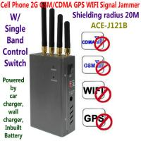 Cheap 4 Antenna Handheld Cell Phone 2G GSM GPS WIFI Signal Jammer Blocker W/ Single for sale