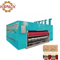 China Fully Automatic Corrugated Cardboard Printing Die Cutting Machine PLC Computer Control on sale